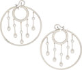 Estate Jewelry:Earrings, Diamond, White Gold Earrings, Chanel, French. ...