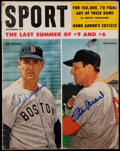 """Baseball Collectibles:Publications, Ted Williams and Stan Musial Multi-Signed """"Sport"""" Magazine. ..."""
