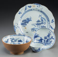Asian:Chinese, A Thirty-Five Piece Nanking Cargo Chinese Porcelain Group, QingDynasty, Qianlong Period, circa 1750. 9 inches diameter (22....