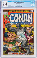 Bronze Age (1970-1979):Miscellaneous, Conan the Barbarian #36 (Marvel, 1974) CGC NM 9.4 Off-white towhite pages....