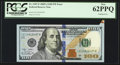 Error Notes:Attached Tabs, Attached Tab Error Fr. 2187-E $100 2009A Federal Reserve Note. PCGSNew 62PPQ.. ...