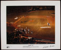 Autographs:Others, Hank Aaron Signed Oversized Print. ...