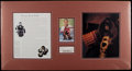 Hockey Collectibles:Others, Terry Sawchuck Signed Cut Signature Display....