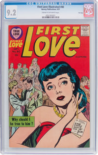 First Love Illustrated #80 File Copy (Harvey, 1957) CGC NM- 9.2 Cream to off-white pages