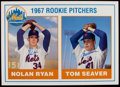 Autographs:Baseballs, Nolan Ryan and Tom Seaver Dual Signed Oversized Rookie Card....
