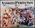 Autographs:Photos, New York Yankees Perfect Game Winning Multi Signed OversizedPhotograph - Including Larsen, Wells, & Cone....