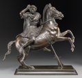 Bronze:European, Continental School . Alexander the Great on Horseback, after theAntique. Bronze with dark brown patina. 19 inches (48.3...