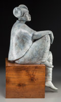 Sculpture, Shirley Thompson Smith (American, b. 1929). Seated Girl, 1994. Bronze with gray patina. 26 inches (66.0 cm) high. Ed. 1/...