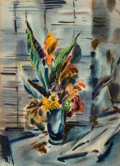 Fine Art - Work on Paper:Watercolor, Rex Brandt (American, 1914-2000). Still Life with Flowers.Watercolor on paper. 29-1/4 x 21-1/4 inches (74.3 x 54.0 cm) ...