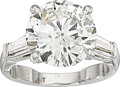 Estate Jewelry:Rings, Diamond, Platinum Ring  The ring features a ro...
