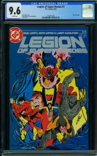 Legion of Super-Heroes #1 (DC, 1984) CGC NM+ 9.6 WHITE pages