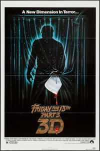 "Friday the 13th Part 3 & Other Lot (Paramount, 1982). One Sheets (2) (27"" X 41"") 3-D Style. Horror..."