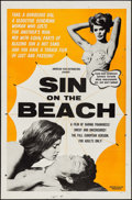 "Movie Posters:Sexploitation, Sin on the Beach & Other Lot (American Film Distributing,1964). One Sheets (2) (27"" X 41""). Sexploitation.. ... (Total: 2Items)"