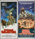 "Movie Posters:Science Fiction, Battlestar Galactica & Other Lot (CIC, 1978). AustralianDaybills (2) (13"" X 30""). Science Fiction.. ... (Total: 2 Items)"