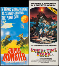 "Gamera Super Monster & Others Lot (Filmways, 1980). Australian Daybills (3) (13"" X 25"", 12.75"" X 26.7..."