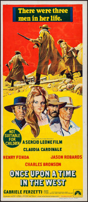 "Once Upon a Time in the West (Paramount, 1969). Australian Daybill (13"" X 30""). Western"