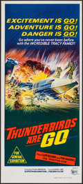 "Movie Posters:Science Fiction, Thunderbirds Are Go (United Artists, 1968). Australian Daybill (13"" X 30""). Science Fiction.. ..."