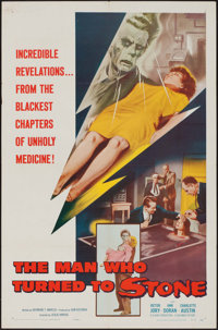 """The Man Who Turned to Stone & Other Lot (Columbia, 1957). One Sheet (27"""" X 41"""") & Lobby Card (11""""..."""