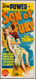 "Movie Posters:Adventure, Son of Fury (20th Century Fox, 1942). Australian Daybill (13.5"" X30""). Adventure.. ..."
