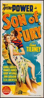 "Son of Fury (20th Century Fox, 1942). Australian Daybill (13.5"" X 30""). Adventure"