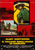"""Movie Posters:Western, The Outlaw Josey Wales (PIC, 1976). Italian Foglio (25.75"""" X 37"""").Western.. ..."""