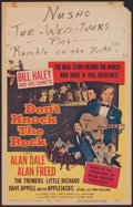 "Movie Posters:Rock and Roll, Don't Knock the Rock (Columbia, 1957). Window Card (14"" X 22"").Rock and Roll.. ..."