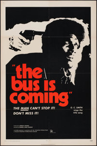 """The Bus is Coming (William Thompson Intl., 1971). One Sheets (2) (27"""" X 41"""") 2 Styles. Blaxploitation. ... (To..."""
