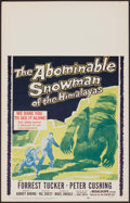 """Movie Posters:Horror, The Abominable Snowman of the Himalayas (20th Century Fox, 1957). Window Card (14"""" X 22""""). Horror.. ..."""