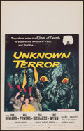 "Movie Posters:Horror, Unknown Terror (20th Century Fox, 1957). Window Card (14"" X 22"").Horror.. ..."