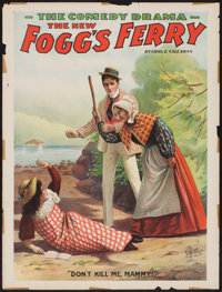 """The New Fogg's Ferry (Enquirer, 1893). Theatre Poster (21.25"""" X 28""""). Drama"""