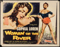 "Movie Posters:Foreign, Woman of the River (Columbia, 1957). Half Sheet (22"" X 28""). Foreign.. ..."