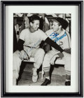 Autographs:Photos, Stan Musial and Ted Williams Multi-Signed Photograph....