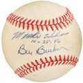 Autographs:Baseballs, Bill Buckner and Mookie Wilson Signed Baseball - 1986 WS Ball. ...