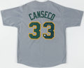 Autographs:Jerseys, Jose Canseco Signed Oakland Athletic Jersey....