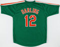 Autographs:Jerseys, Ron Darling Signed New York Mets Green Jersey....