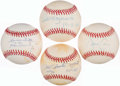 Autographs:Baseballs, Baseball Greats Single Signed Baseball Quartet (4) - Guidry,Rizzuto, Mazeroski, & Cone. ...