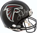 Football Collectibles:Helmets, Julio Jones Signed Full Sized Atlanta Falcons Helmet....