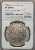 Mexico, Mexico: Charles IV 8 Reales 1793 Mo-FM AU Details (SurfaceHairlines) NGC,...