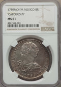 Mexico, Mexico: Charles IV 8 Reales 1789 Mo-FM MS61 NGC,...