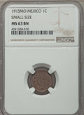 Mexico, Mexico: Estados Unidos Centavo 1915-Mo MS63 Brown NGC,...