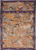 Asian:Chinese, A Chinese Kesi Textile Wall Hanging. 85-1/2 inches high x 60 incheswide (217.2 x 152.4 cm). ...