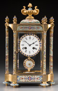 Clocks & Mechanical:Clocks, A French Gilt Bronze and Cloisonné Mantel Clock for the Chinese Market, late 19th-early 20th century. Marks to face: P. KI...