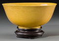 Asian:Chinese, A Chinese Imperial Yellow Glazed Bowl, Qing Dynasty, GuangxuPeriod, circa 1875-1908. Marks: Six-character Guangxu mark in b...