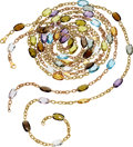 Estate Jewelry:Necklaces, Multi-Stone, Gold Necklaces. ... (Total: 6 Items)