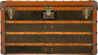 "Goyard Black Goyardine Canvas Steamer Trunk Good to Very Good Condition 40"" Width x 22"" Height x 22"" Dept..."