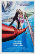 "Movie Posters:James Bond, A View to a Kill (United Artists, 1985). One Sheet (27"" X 41"").James Bond.. ..."