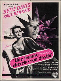 """Now, Voyager (Warner Brothers, 1947). First Post-War Release French Moyenne (23.25"""" X 31.25""""). Romance"""
