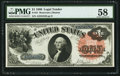 Large Size:Legal Tender Notes, Fr. 31 $1 1880 Legal Tender PMG Choice About Unc 58.. ...