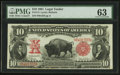 Large Size:Legal Tender Notes, Fr. 114 $10 1901 Legal Tender PMG Choice Uncirculated 63.. ...