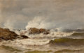 Fine Art - Painting, American:Antique  (Pre 1900), Mauritz Frederick Hendrick De Haas (American, 1832-1895). Coastof Maine. Oil on canva. 12 x 19 inches (30.5 x 48.3 cm)...